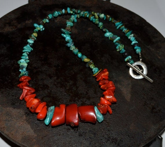 Red coral necklace coral and turquoise necklace mens coral like this item aloadofball Images