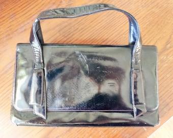 Vintage 1950s Black Coblentz Original Purse / 50s HandBag / Coblentz Original Purse / Vintage Hand Bag / 50s Patent Leather / Vintage Purse