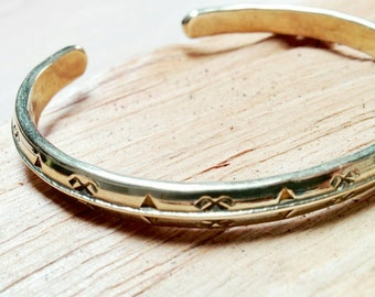 Bracelet Viking. Fertility sign. in brass