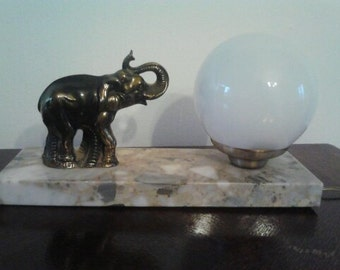 "Vintage French Art Deco ""Gallot"" Globe Table Lamp Light"