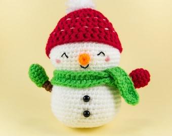 Christmas Snowman Decoration - Crochet Snowman - Amigurumi Snowman - Snowman Ornament - Snowman Doll - Stuffed Snowman - Jolly the Snowman