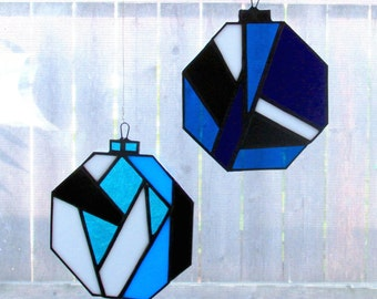 Stained Glass Window Ornaments (Set of Two)