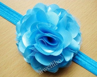 Satin Mesh Flower Headbands, Baby Headband,  Flower Headbands
