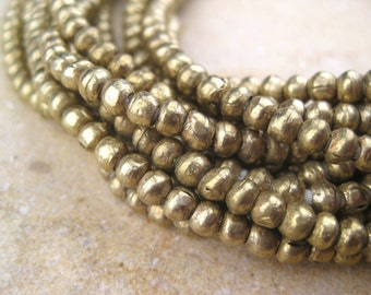 Round Brass Beads From the Villages of Ethiopia! African Metal Beads - Brass Spacers - Wholesale African Beads - Brass Beads 234