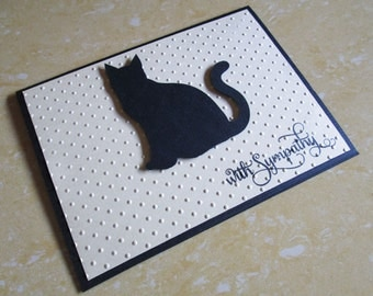 Cat Sympathy Card, Pet Sympathy Card, Loss of Cat Card, Loss of Pet Card, Pet condolence, With Sympathy, Thinking of You Card