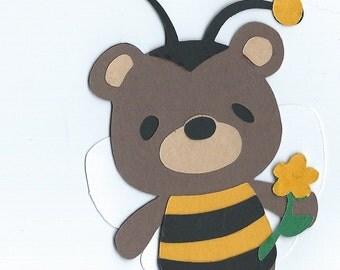 Teddy Bear Bumble Bee Die Cut