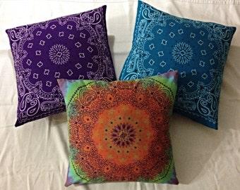Lavender Bandana Pillows