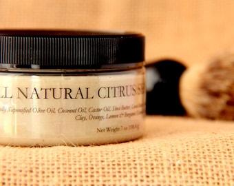 All Natural Citrus Shaving Soap