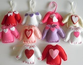 Sweetest Ever Handmade Felt Ugly Valentine Sweater Ornaments Party Favors! Choose From 10 Styles At Just 3.49 Each