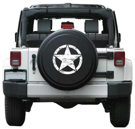 Jeep Wrangler Unlimited Tire Cover Decal sticker For Jeep Wrangler RUBICON spare tire cover decals rear ...