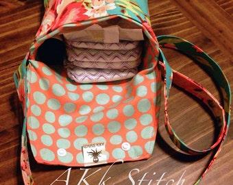 Bliss Bouquet Tula Satchel Bag- Tula Diaper Bag- Bliss Tula Accessories- Bliss Accessories-Tula Accessories