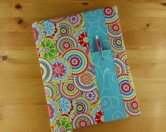 Kaleidoscope Flower with Blue Swirl~ Composition Notebook Cover