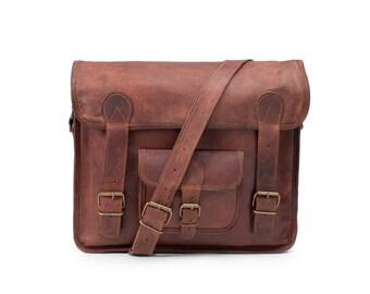 The American - Handmade Leather Messenger Bag / Satchel / Carry On / Shoulder Bag / Briefcase / Laptop / iPad / Hip Bag / Professional