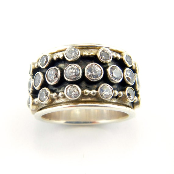 items similar to cara sterling silver meditation ring with
