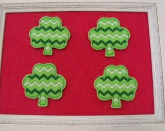 Chevron Shamrock Feltie, St Patricks Day, Irish