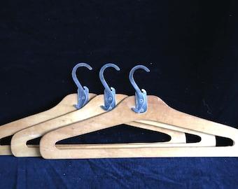 retro plywood travelling coathangers