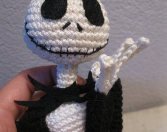 Jack Skellington crochet pattern 16 inch, ready for ...