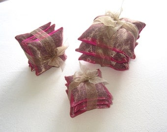 Lavender Sachet Gift Set in Silk size Small