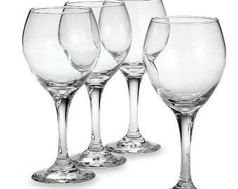 Monogrammed Wine Glasses- Set of 4
