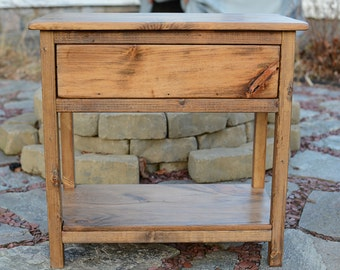 15% OFF EQUINOX SALE!! Elegant Nightstand / Rustic End Table / Bedroom Furniture / Rustic Night stand - Early American Stain