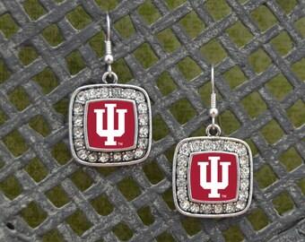 Indiana Hoosiers Square Earrings