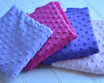 Minky baby burp cloths