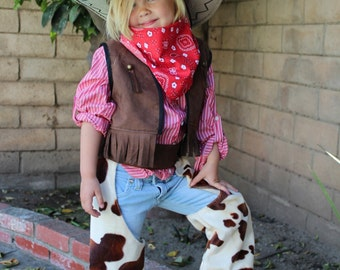 Cowboy Costume Only Vest for Boys,Girls  Ready to ship Custom Made Size 1T,2,3,4,5,6,7,8,9,10Y