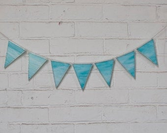 SEGO Stained Glass Bunting - Sky Blue