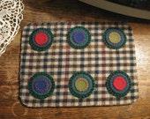 Checkered Christmas Penny Rug, FAAP, OFG, HaFair, CIJ