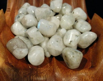 Rainbow Moonstone Tumbled Two or Four Pieces