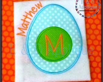 Easter Egg Applique Design - Easter Applique - Monogram Easter Egg Applique