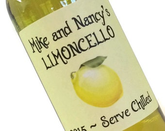 Limoncello Labels, sheet of 12, the more you buy the more you save, Also Orangecello, Limecello, Grapefruitcello