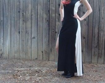 Black and Cream Maxidress