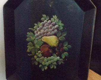 Vintage Tin Hand Painted Tray