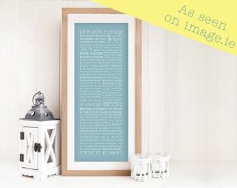 "PRINT - Unframed ""Desiderata"" by Max Ehrmann - Inspirational Typographic print - Home Decor - Gift"