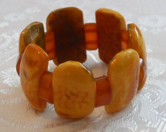 Chunky natural Baltic amber bracelet