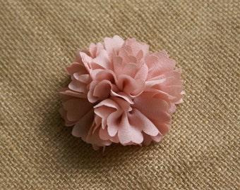 Fabric Peony - Chiffon Fabric Flower Embellishment - Dusty Pink - 2 pieces