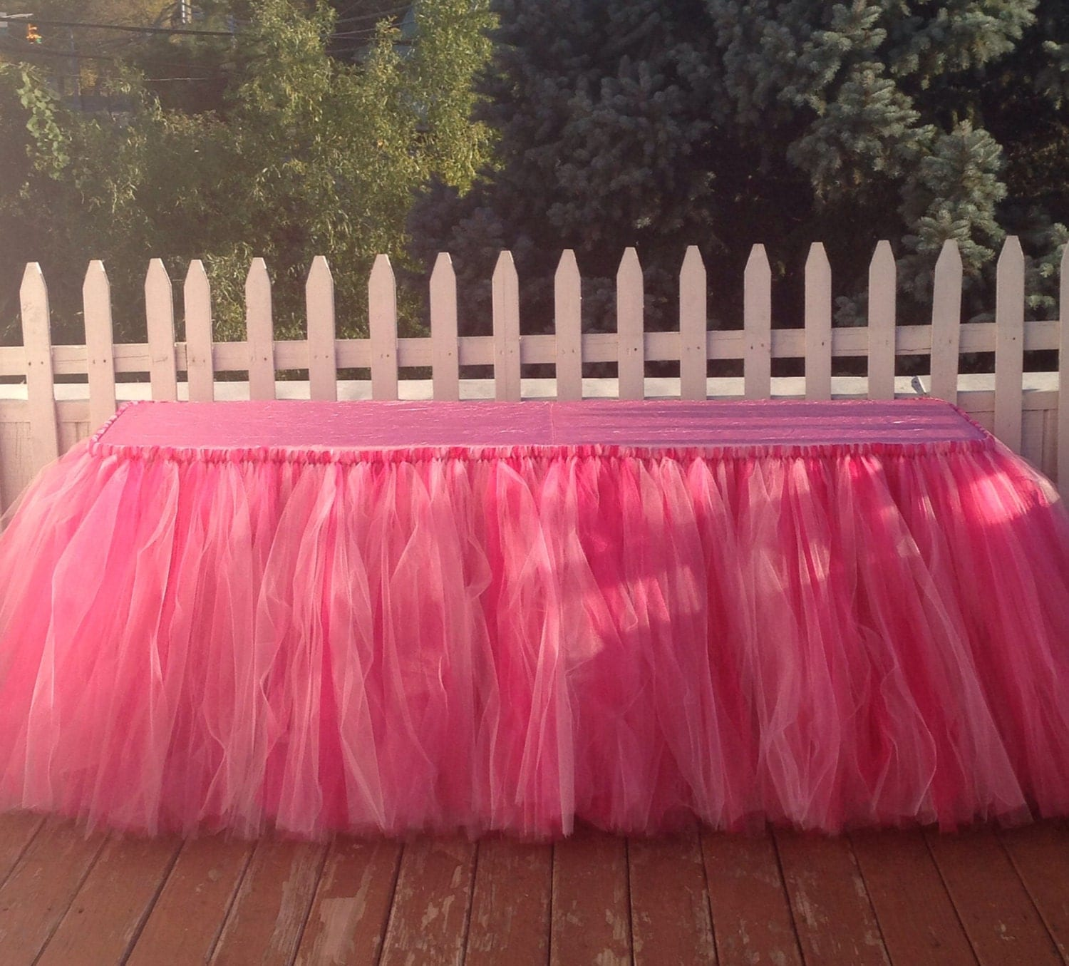 Buffet table skirting - 17 Feet Tulle Tablecloth Tutu Table Skirts Tutu Party