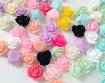 8mm Little Pastel Multi Kawaii Flower Decoden Cabochons - 25 piece set