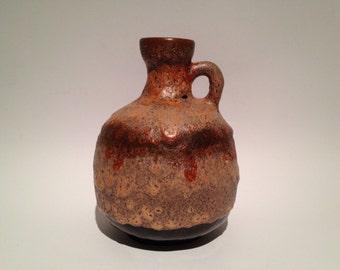 Ruscha Keramik 333 Vase Vintage Mid-Century Modern Pottery 1970s  West Germany. WGP handled vase.