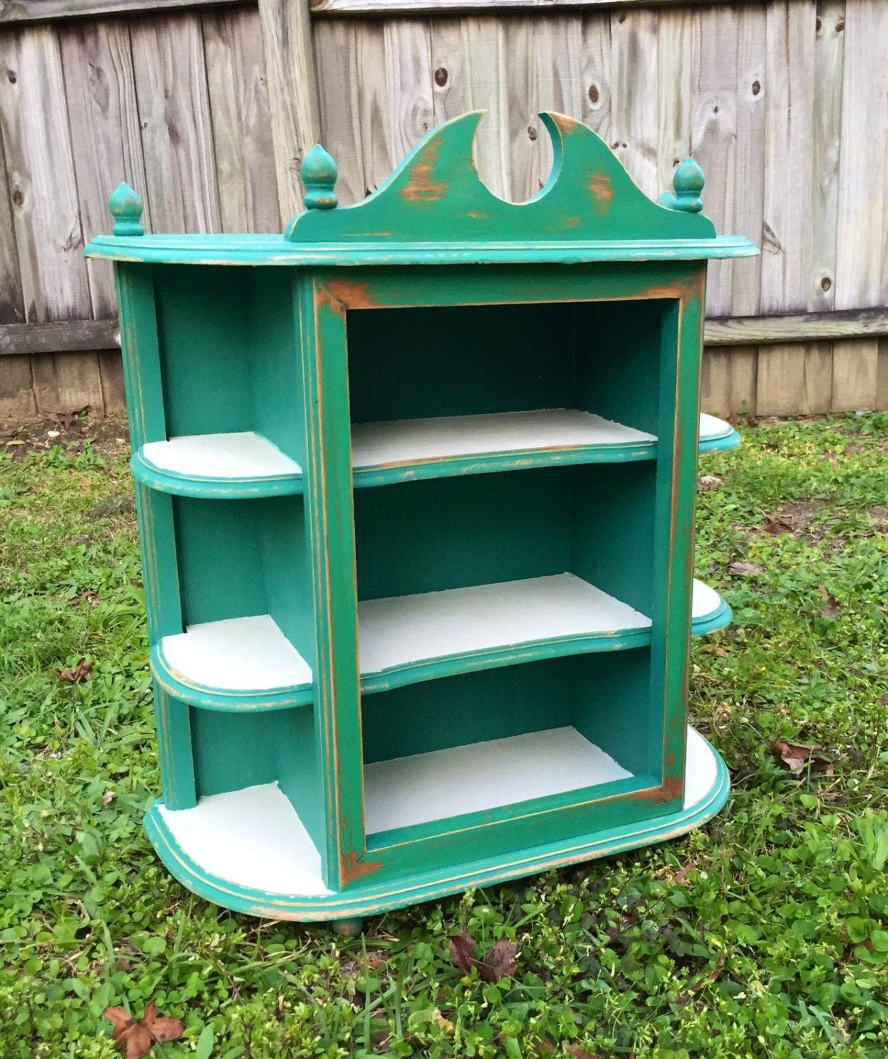 Shabby chic cabinet curio cabinet teal cabinet by - Telas shabby chic ...