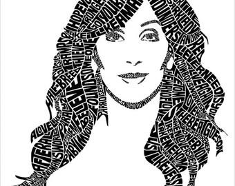 Cher Type Print