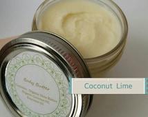 Whipped Coconut Oil, whipped shea Butter, vegan lotion, organic Shea butter, organic body butter, hand cream, coconut lime