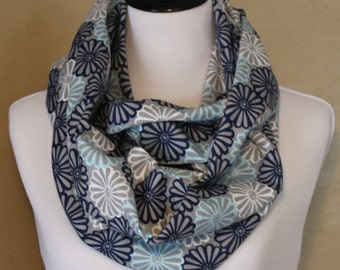 Blue Daisies Infinity Scarf