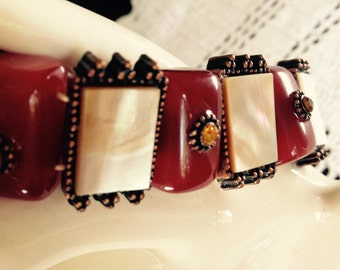 Mother Of Pearl Slider Bracelet