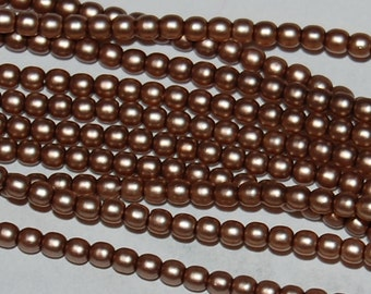 2mm Glass PEARLS 75417, Taupe Satin, sold in units of approx 300