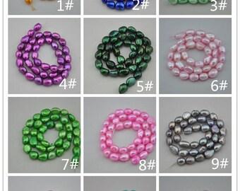 Freshwater Pearl Baroque pearls Potato Loose Beads 8.0-9.5mm 36pcs Full Strand Item---Z001-0012