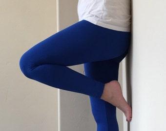 Royal Blue Fleece Lined Yoga Leggings