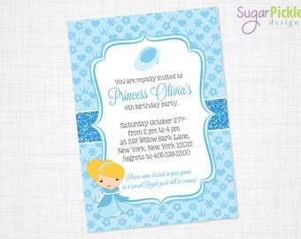 Princess Cinderella Birthday Invitation, Cinderella Party Invitation, Princess Party Invite, Princess Birthday, PRINTABLE