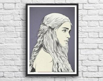 Art-Poster 50 x 70 cm - Game of Thrones - Khaleesi